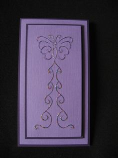 Stitching Card. Butterfly. Pricked from a brass template