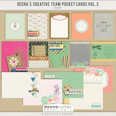 <p> Freebie just for my favorite fans! My Creative Team created journal cards out of my Every Little Bit collections.</p> <p> These contain 9 3x4 and 6 4x6 journal cards in various orientations. They also include PDF printables to print and cut. </p>