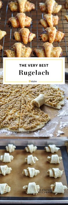 How To Make the Best Rugelach Cookies - Rugelach Recipe – How To Make Rugelach Cookies Rugelach Cookies, Rugelach Recipe, Cookie Recipes, Dessert Recipes, Picnic Recipes, Baking Desserts, Biscuits, Cupcakes, Cupcake Cakes