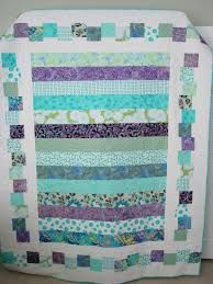 Would be a nice quick quilt for charity or baby!! Beautiful colours!