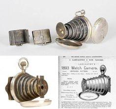 Victorian Era Pocket Watch Spy Camera - c.1890