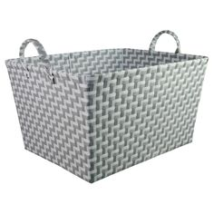 This beautifully constructed Rectangular Woven Storage Bin from Pillowfort™ offers an attractive storage solution for a variety of items around your home. In a subtle contrast of gray and white in a boxy rectangular shape, this neatly woven bin brings a fashionable touch to your home. Practical enough for storing almost anything from toys, towels, throws, clothes and other knick-knacks that you always want within reach, this versatile container is sturdy and will last for many years,...