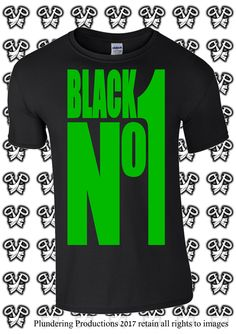 Goth Mens T-shirt Black No1 in Black or Green Sizes Small to 3XLarge by Plundering Productions #Goth #Gothic #HeavyMetal #TypeONegative #TON #AltFashion #AltBrand #AltLabel #AltGuy #AltModel