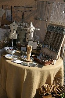 Rustic style displays at the Remnants of the Past Vintage show in California (Pammy J Designs)