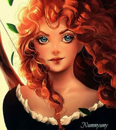 "princessesfanarts: ""Merida by Nummyumy "" Disney Pixar, Merida Disney, Gif Disney, Disney Fan Art, Disney And Dreamworks, Disney Animation, Disney Cartoons, Disney Love, Disney Magic"
