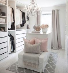 35 Best Walk in Closet Ideas and Picture Your Master Bedroom is part of Dressing room closet - Looking for some fresh ideas to remodel your closet Visit our gallery of leading best walk in closet design ideas and pictures Bedroom Decor, Closet Designs, Room Closet, Closet Decor, House Interior, Dream Dressing Room, Glam Room, Room Design, Room Decor