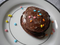 Healthy Chocolate Brownie Pancakes - Treats With a Twist