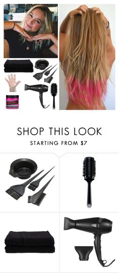 """""""Changing my hair"""" by rosslynch-1145 ❤ liked on Polyvore featuring GHD and Home Source International"""