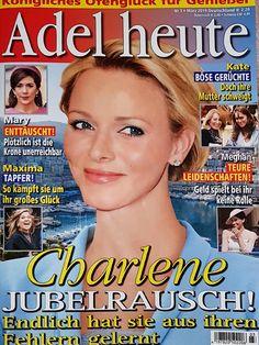 2019: Fürstin Charlene von Monaco Fürstin Charlene, Charlene Of Monaco, Adele, Die Royals, Royals Today, Cover, Movie Posters, Point Of View, Passion