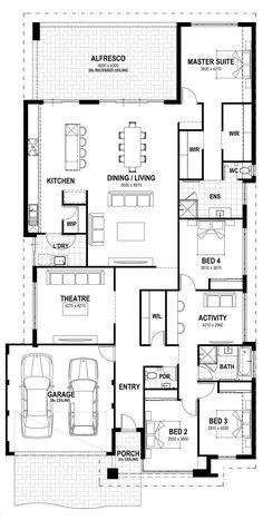 Capella 15 - Summit Homes Bungalow House Plans, Bedroom House Plans, New House Plans, Dream House Plans, House Floor Plans, Building Plans, Building Design, Building A House, Summit Homes