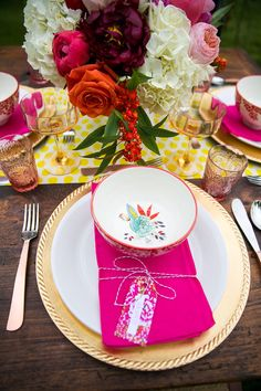 fancy table decor #pinkwedding #fancywedding #weddingchicks http://www.weddingchicks.com/2013/12/27/fanciful-floral-wedding-ideas/