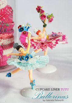 Paper Crafts: Cupcake Liner Tutu Ballerinas. Download your free PDF tutorial!