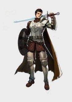 m Fighter Plate shield Sword Cape warrior