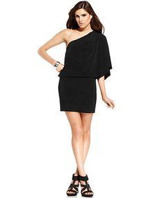 Jessica Simpson One-Shoulder Party Dress