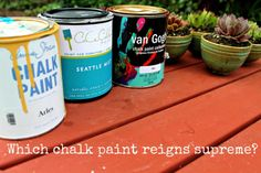 She reviews 3 kinds of chalk paint. I'm so excited.