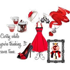 """""""Teatime in Wonderland: The Queen of Hearts"""" by resamichelle on Polyvore"""