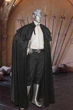 Renaissance Cloak No. 4 /Black - 99.70USD - Medieval and Renaissance Clothing, Handmade by Your Dressmaker