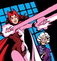 The Scarlet Witch by John Byrne. The Scarlet Witch was tutored by Agatha Harkness in the use of magic(1974-1975). This education would greatly enhance Wanda's power.
