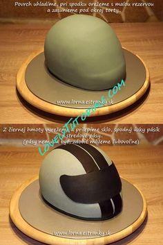 how to make a motorbike helmet cake - Google Search