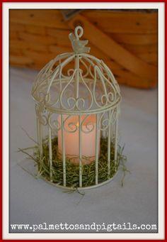 Little Bird Baby Shower Birdcage Centerpiece
