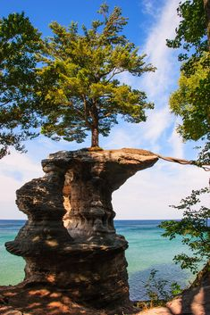 Chapel Rock, Pictured Rocks National Lakeshore Michigan