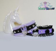 New custom made chokers Those cuties have frilly trim and can be decorated with…