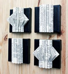 Altered Book Sculptures Modern Wall Art Upcycled Art by EastParlor, $48.00