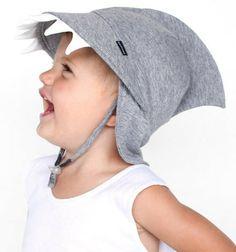 SunSwimPlay - Babies Legionnaire Hat - Grey Sharkie