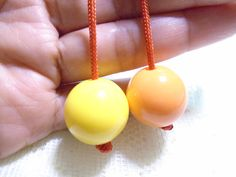 Begleri Yellow & Orange Begleri Begleri beads by OneOfferJewelry