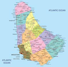 Carte Barbade
