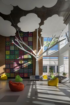 dreamdesign's new school explodes with colors, art and positivity