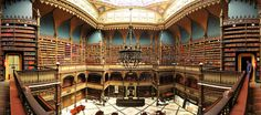 19th Century Library Is Home to 350,000 Books The Real Gabinete Português de Leitura, also known as the Royal Portuguese Reading Room or the Royal Cabinet is a majestic architectural structure and the...