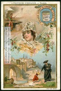 Tolede - Toledo Province Spain  PRETTY c1898 Card