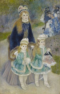 Pierre-Auguste Renoir (French, 1841-1919), La Promenade, 1874-76. Oil on canvas, 170.2 x 108.3 cm.