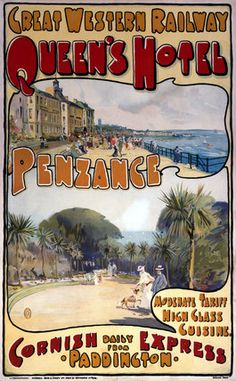 Image result for POSTER GWR QUEENS HOTEL PENZANCE