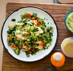Easy Cheezy-Tahini Skillet Kale, in 5-Minutes!