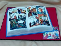 Very cool Comic Book Cake!!!!
