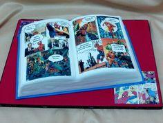 Dope comic book cake.