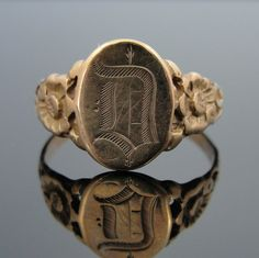 Victorian Mourning Signet Ring / msjewelers via etsy