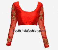 full sleeves blouse designs