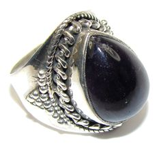 $40.25 Simple! Purple Amethyst Sterling Silver Ring s. 8 at www.SilverRushStyle.com #ring #handmade #jewelry #silver #amethyst