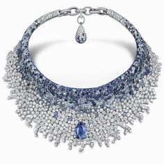 De Grisogono revealed a new masterpiece for the opening of Opera de Paris season. This necklace is like a tutu with a sapphire of 14,37 carats, and a spray of sapphires and diamonds. (=)