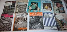 10-Vintage-crochet-Doily-craft-Instructions-Booklets-Mid-Century-Edging-CLARKS