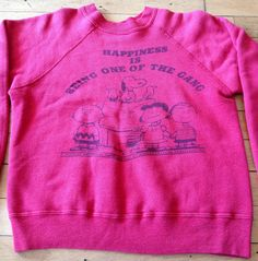 Pink 1960's Spruce Peanuts sweatshirt!