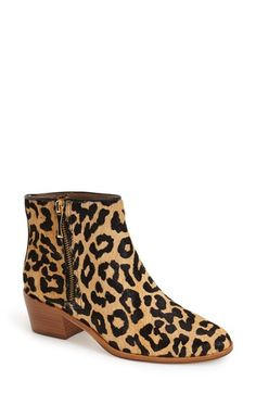 573df5906 A safari-inspired turn with stunning leopard-spotted calf hair. Leopard  Ankle Boots