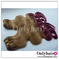 two tone ombre body wave hair