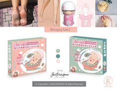 Baby Foot Mask Packaging Design Baby Foot, Graphic Design Illustration, Adobe Photoshop, Adobe Illustrator, Packaging Design, Label, Package Design, Baby Feet, Design Packaging