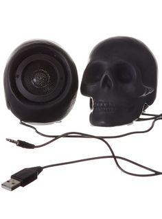Macabre Music Skull Speaker Set
