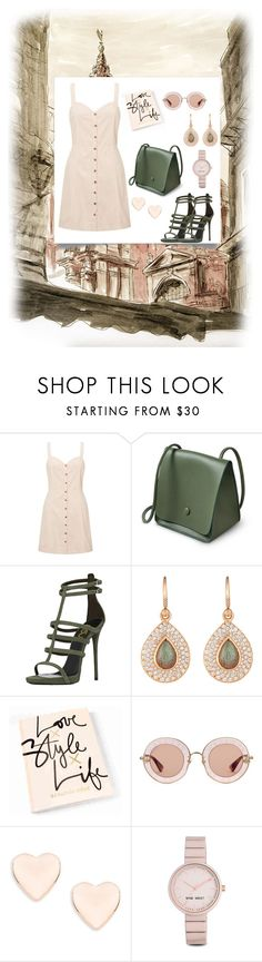 """""""Fifty shades of magic"""" by marahxstyle ❤ liked on Polyvore featuring Miss Selfridge, Irene Neuwirth, Gucci, Ted Baker and Nine West"""