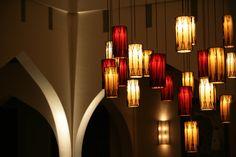 Chedi Muscat lobby lighting detail, Oman